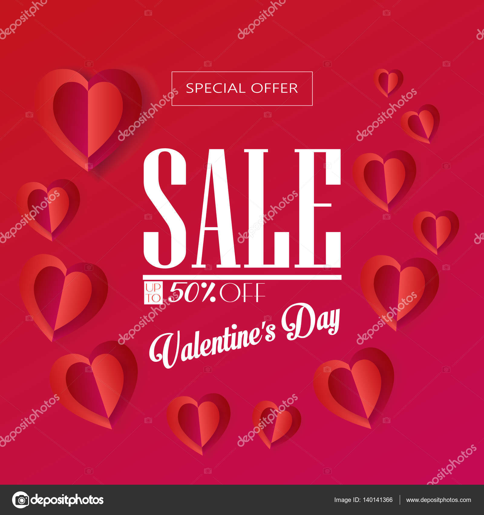 Valentines Day greeting card layout Vector template illustration – Happy Valentines E Card