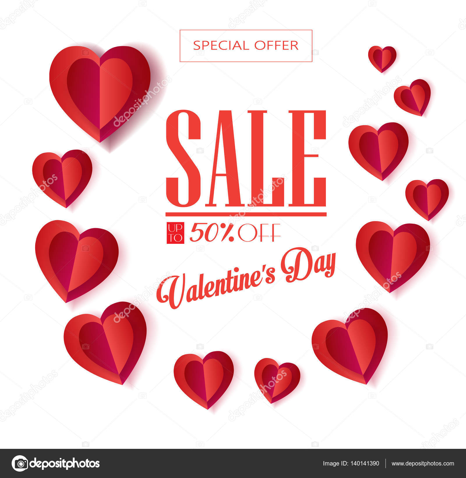 happy valentines day greeting card layout vector template illustration romantic poster with hearts festive background love poster banner e card - Valentines Day E Card