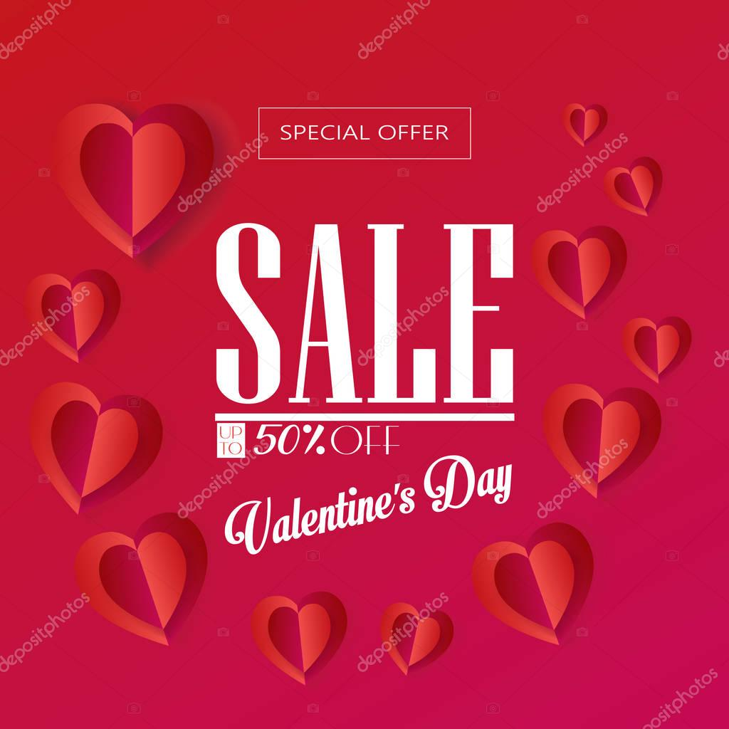 Happy Valentinstag Grußkarte Layout Vorlage Vektorgrafik