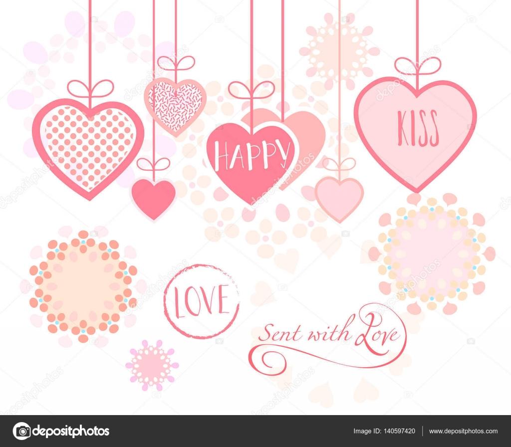 valentinstag oder hochzeitstag grußkarte herzen festliche