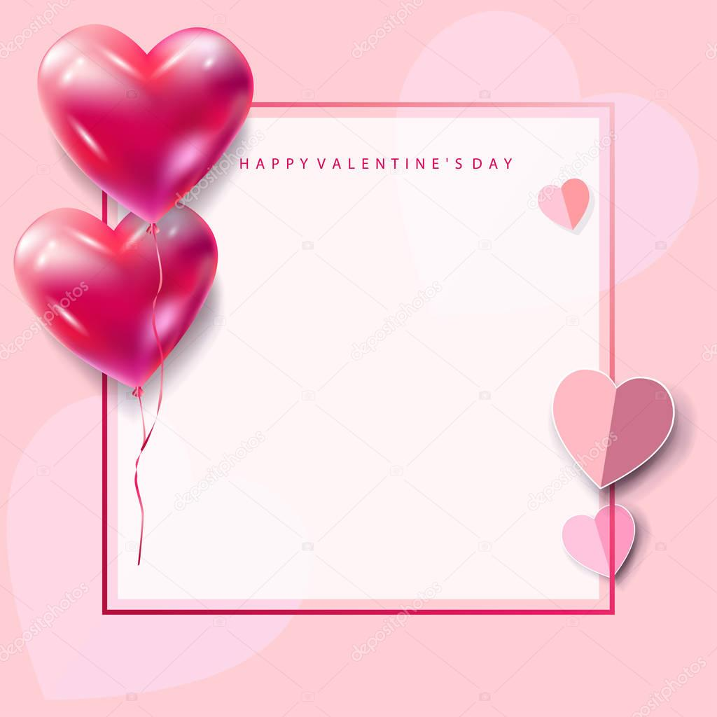 happy valentines day greeting card vector template