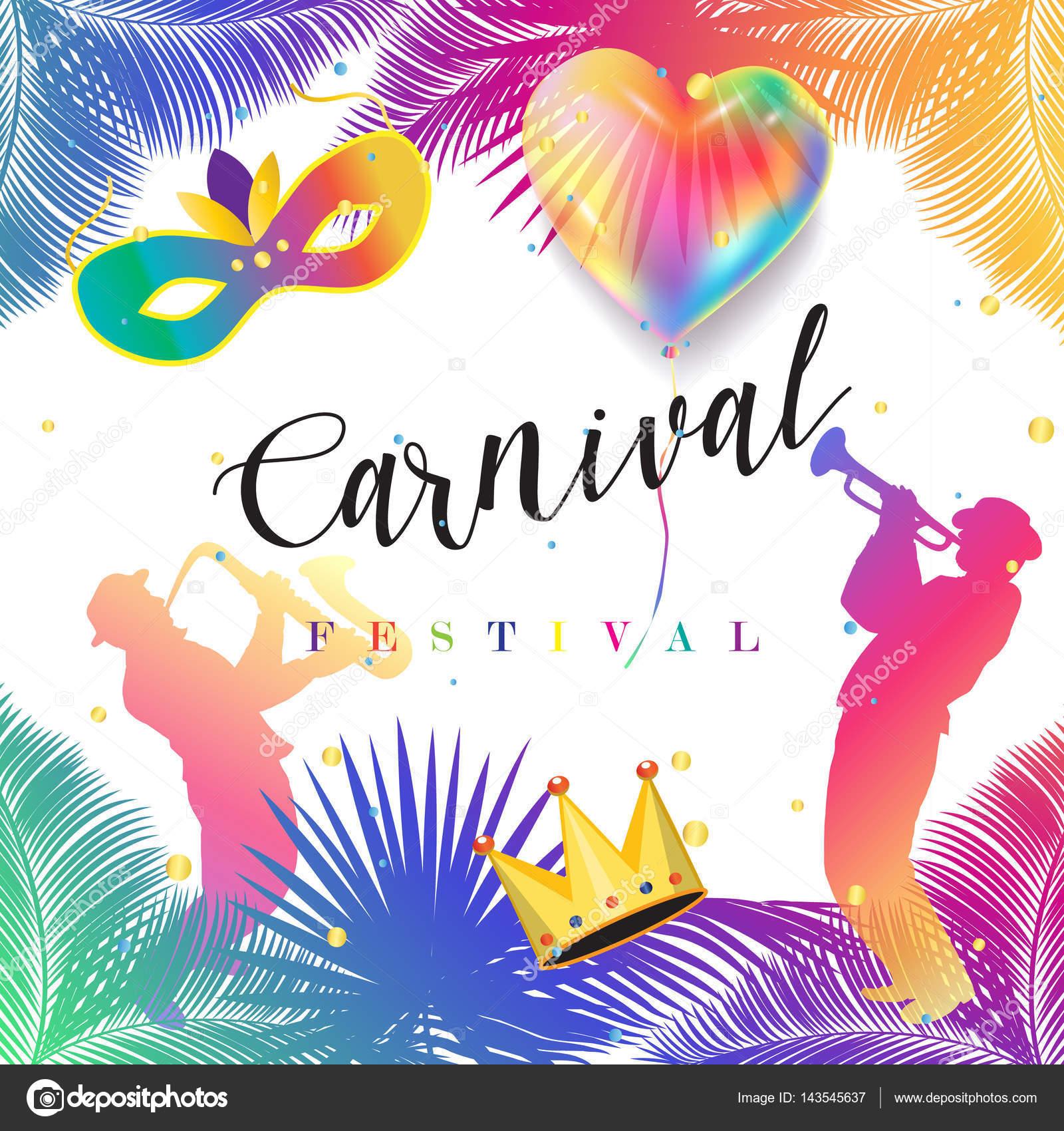 Karneval Musikfestival Maskerade Plakat Einladung Design