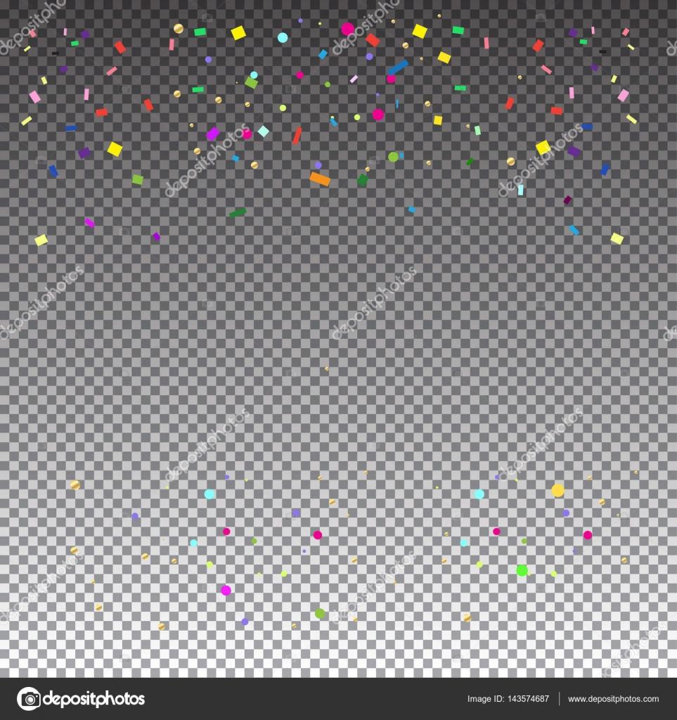 Bright Confetti Decoration For Carnival Music Festival Masquerade Poster Invitation Design