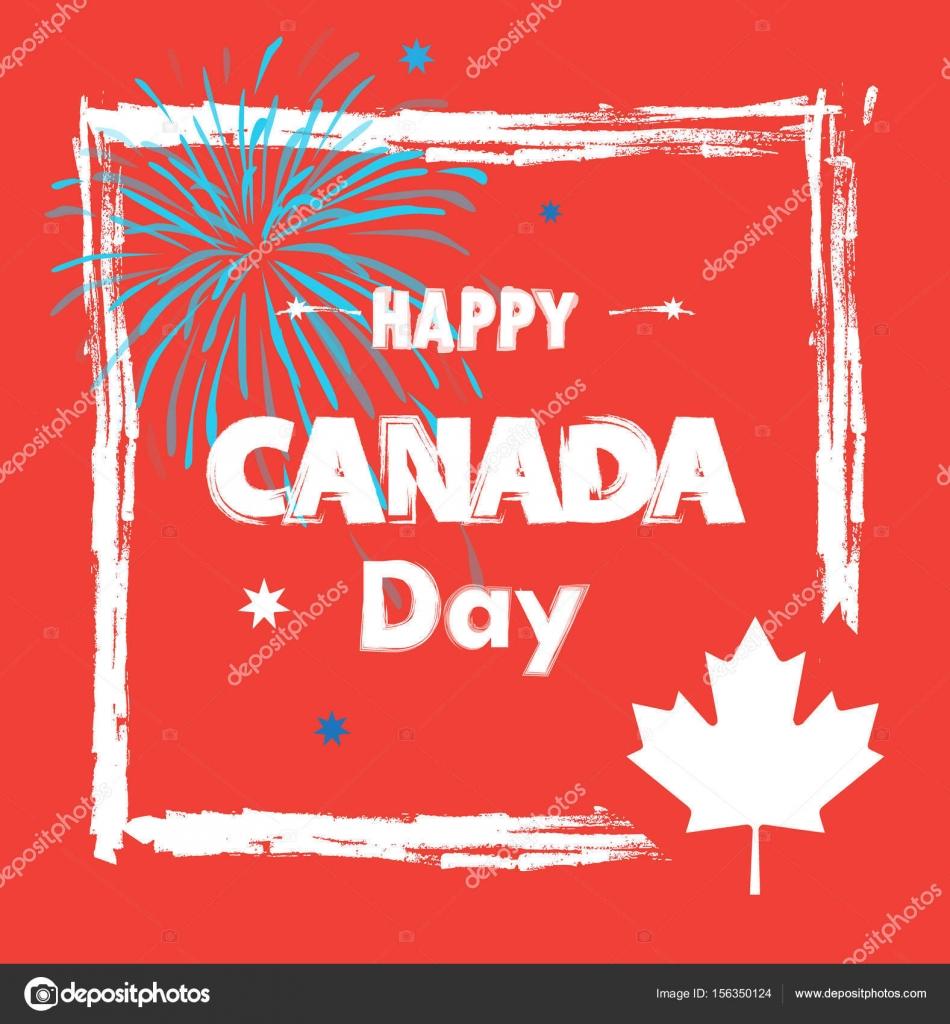 Canadá feliz día! Tarjeta de felicitación, cartel, cartel, con ...