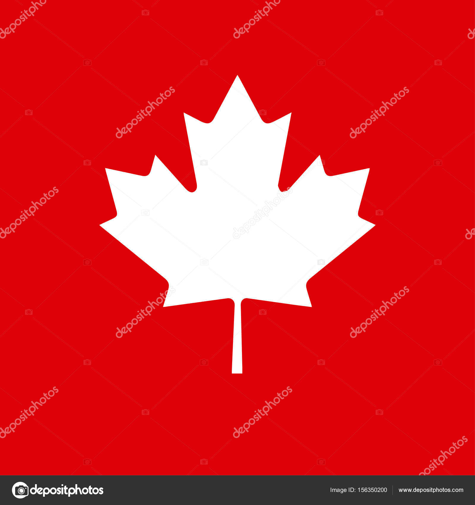 happy canada day greeting card poster placard with maple logo