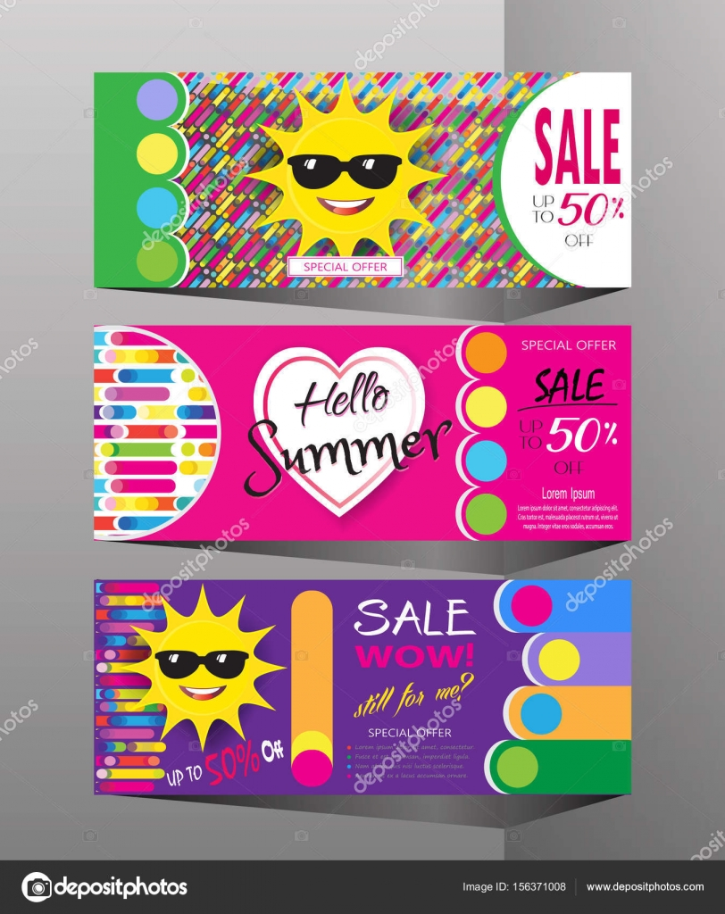 9e52247bcd6 Summer sale background layout banners collection.voucher