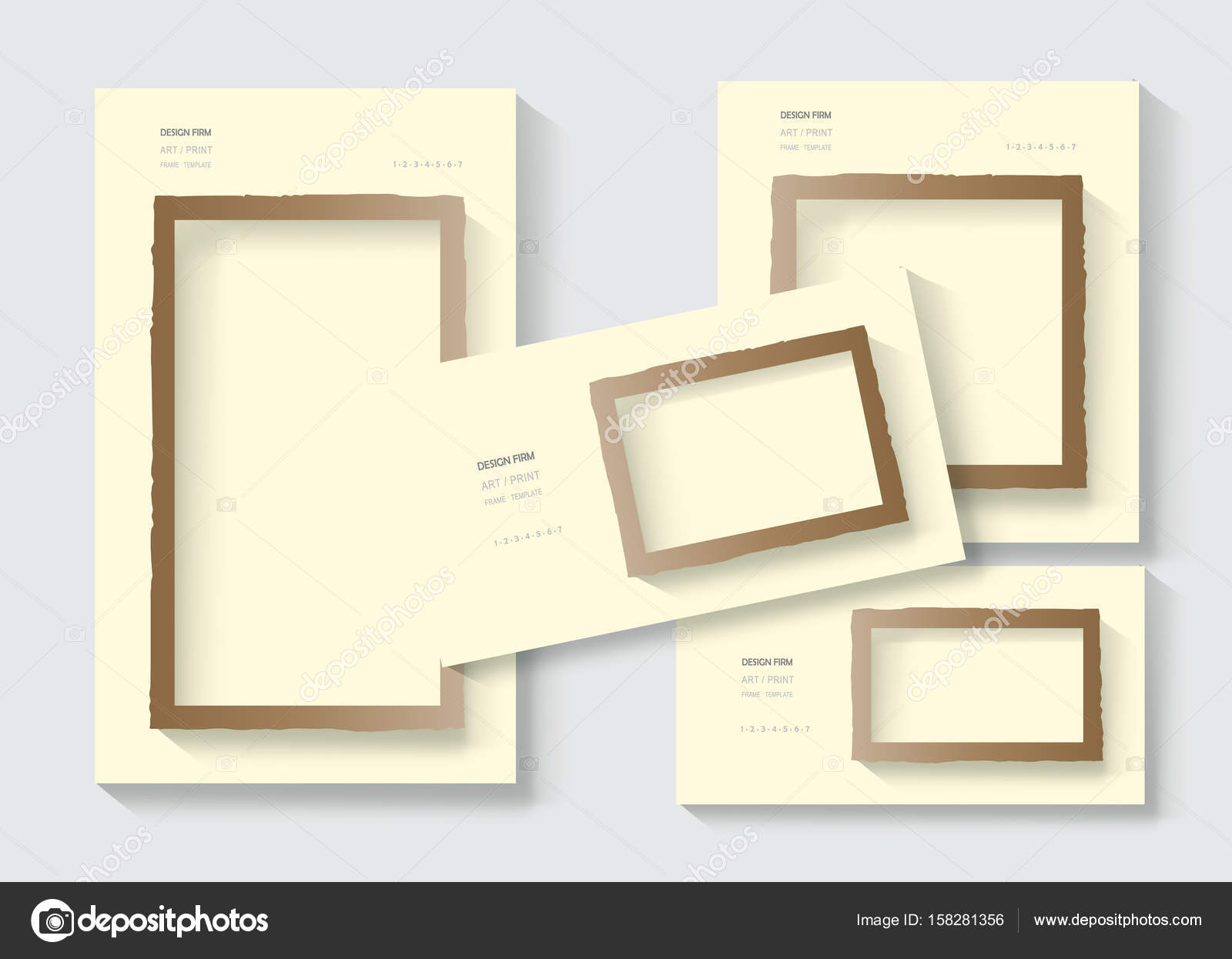 Torn edges paper frame vector template set design business torn edges paper frame vector template set design business brochure layout cover modern design business card envelope poster vintage paper texture reheart Image collections