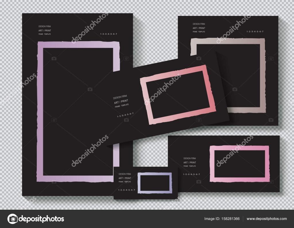 Zerrissene Kanten Papier Vektor Vorlage Frameset. Design, Business ...