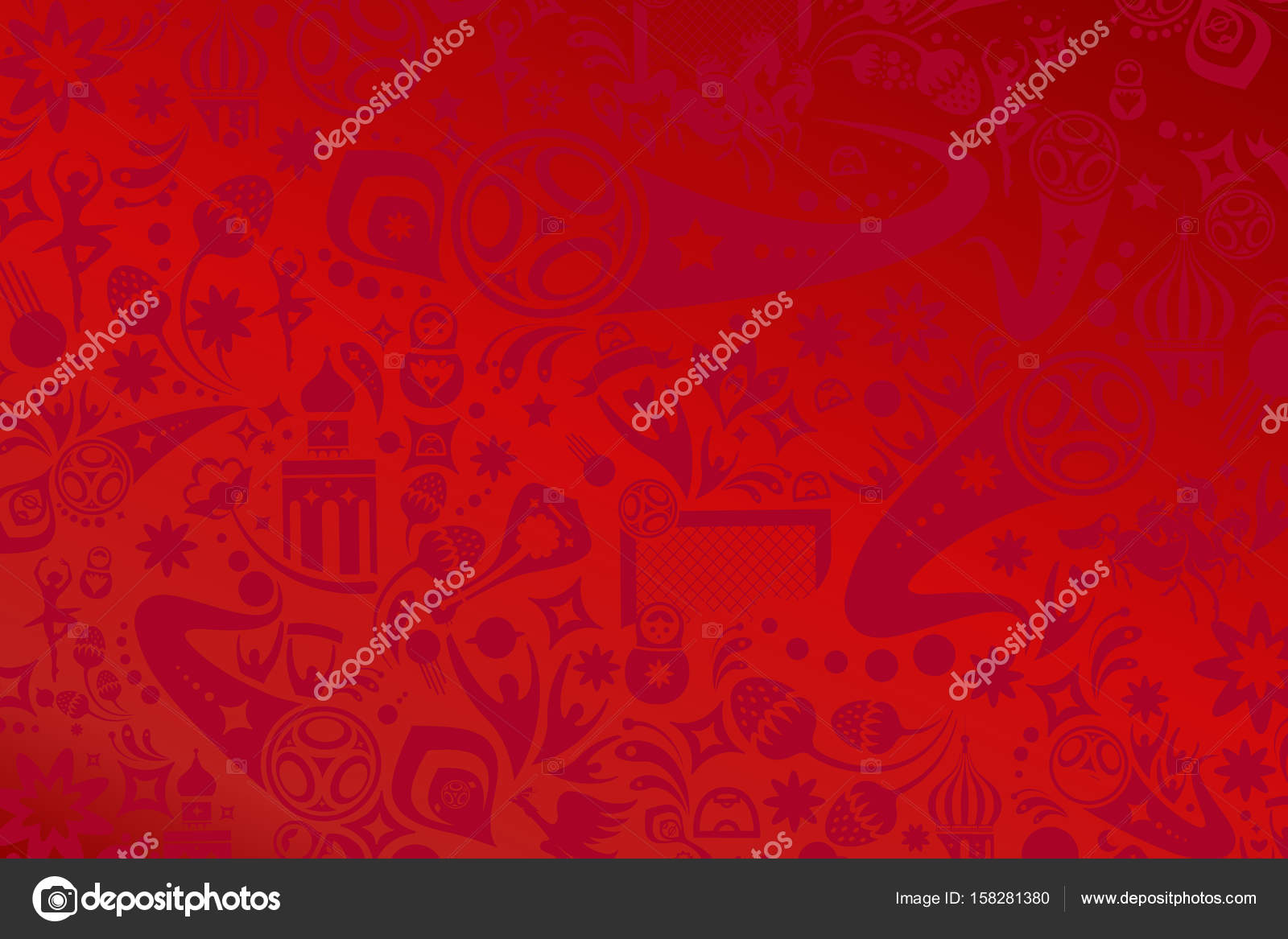 Football 2017 18 russian wallpaper football world cup background football 2017 18 russian wallpaper football world cup background illustration russia red soccer world tournament vector background image voltagebd Gallery