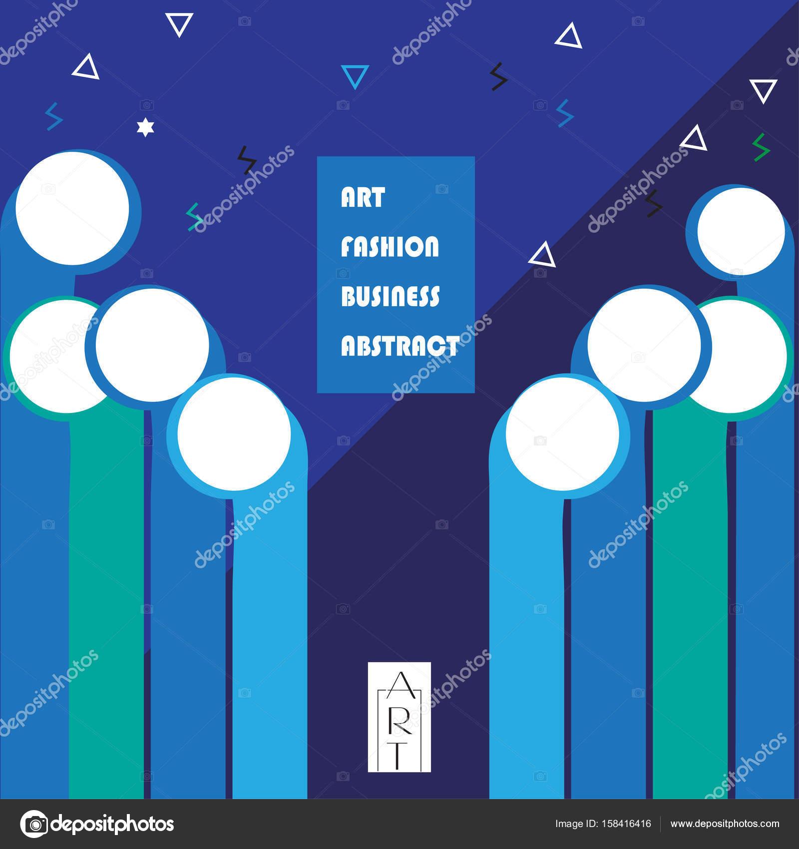 Abstrakte Poster Moderne Kunst Design Business Broschüre Layout