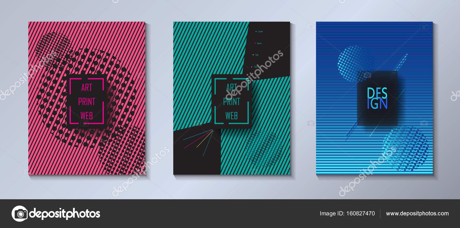Abstrakt Pop Art. Moderne Kunst Design Ausstellung Galerie Katalog ...