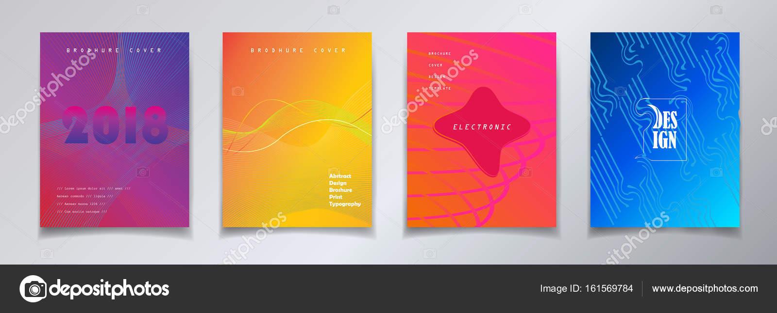 Folleto cubre plantilla de diseño de cartel, flyer, conjunto ...