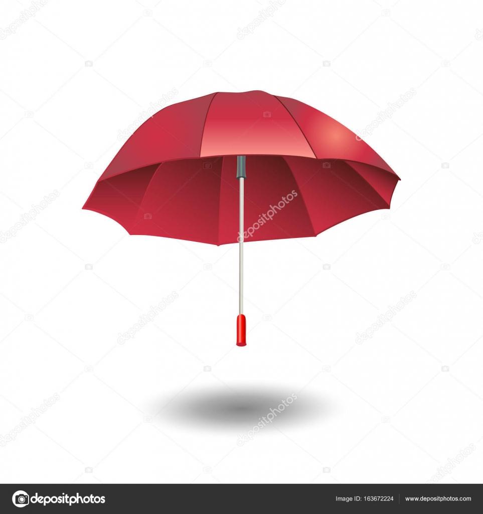Umbrella red color. Rain Umbrella vector illustration ...