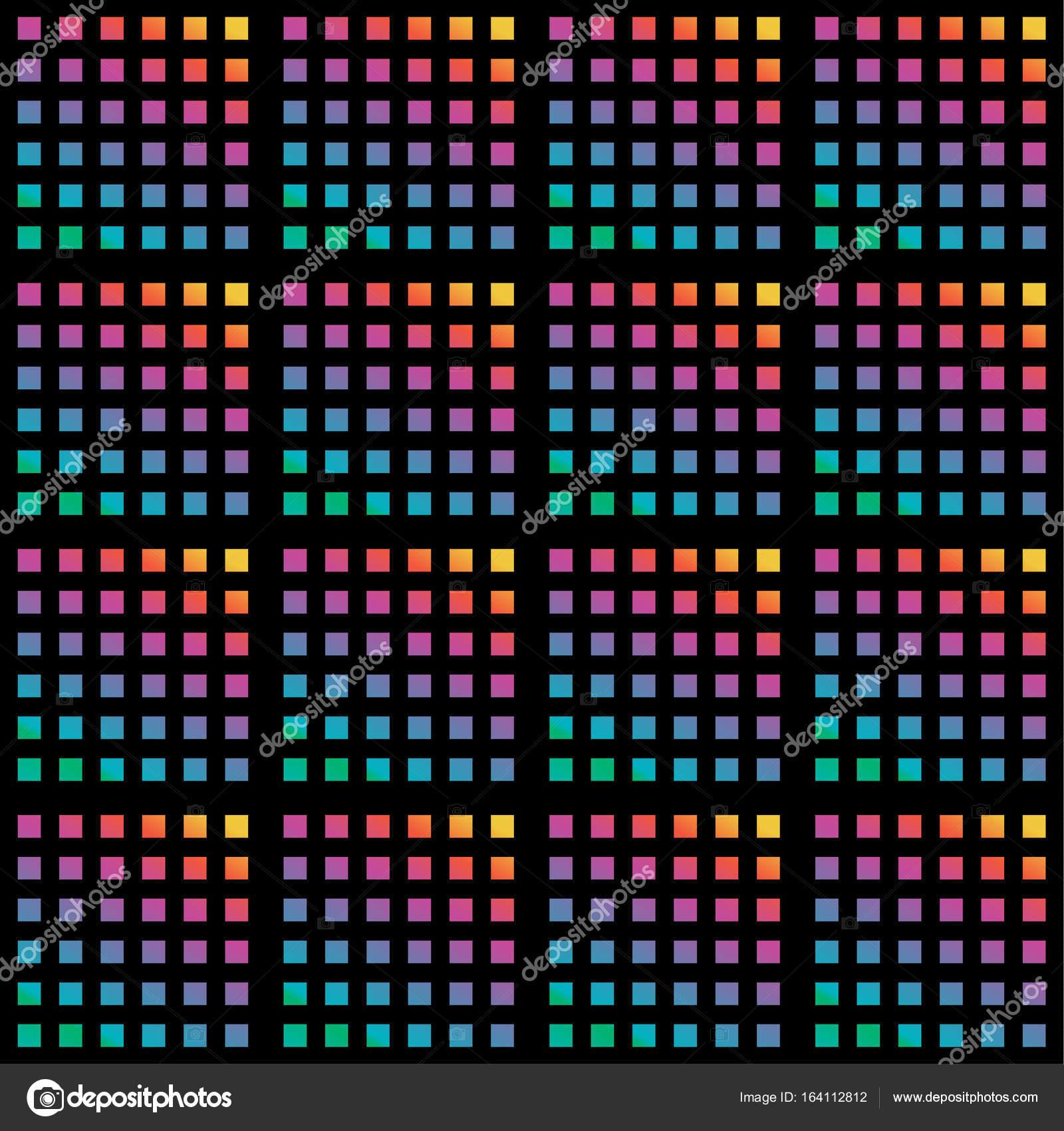 Motif Géométrique Artistique De Pixels Polygone Coloré