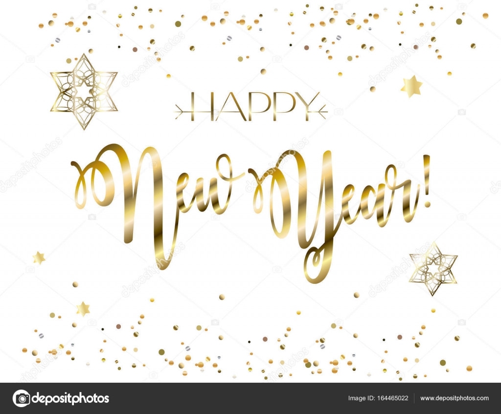 Happy new year rosh hashanah greeting card jewish new year rosh hashanah greeting card jewish new year text shana tova on hebrew have a sweet year lettering gold stars of david confetti jewish holiday kristyandbryce Choice Image