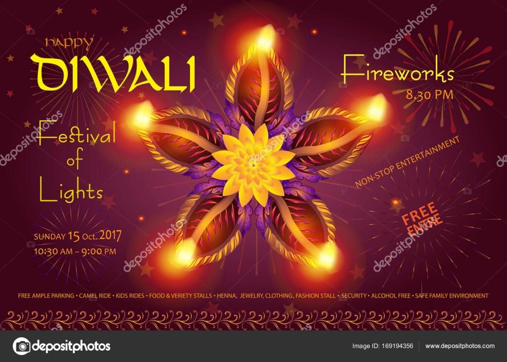 Happy diwali lights festival deepavali poster text burning diya happy diwali lights festival deepavali poster text burning diya oil lamps traditional symbol m4hsunfo