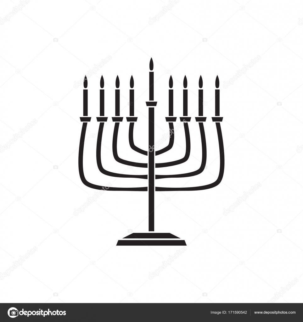 Jewish holiday Hanukkah background with traditional Chanukah symbol ...