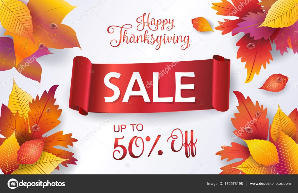 Thanksgiving sale autumn vector illustration fall sales season autumn vector illustration fall sales season thanksgiving holiday decoration maple tree leaves lettering water drops on wooden texture kristyandbryce Images