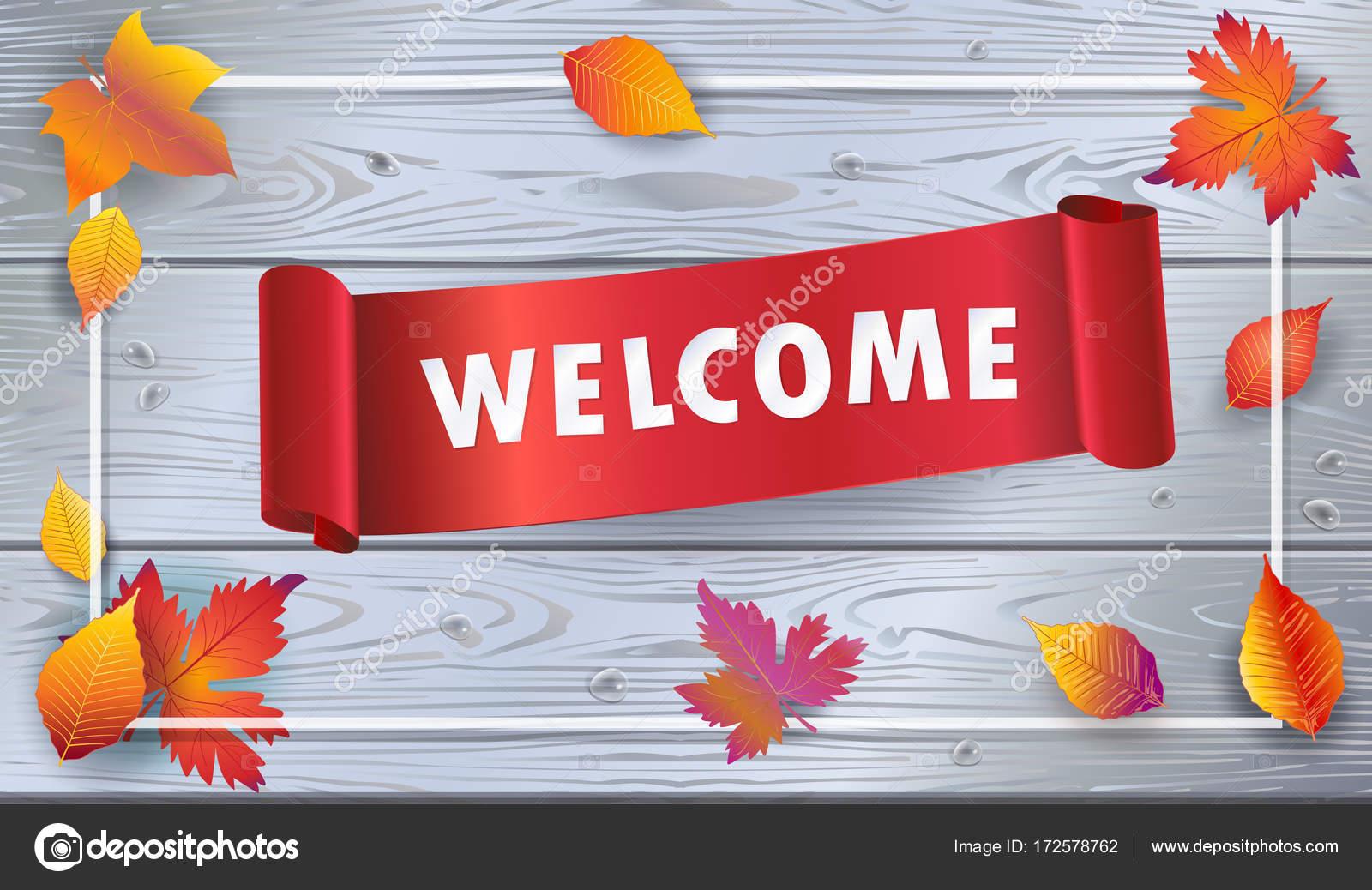 welcome autumn vector illustration fall sales season thanksgiving