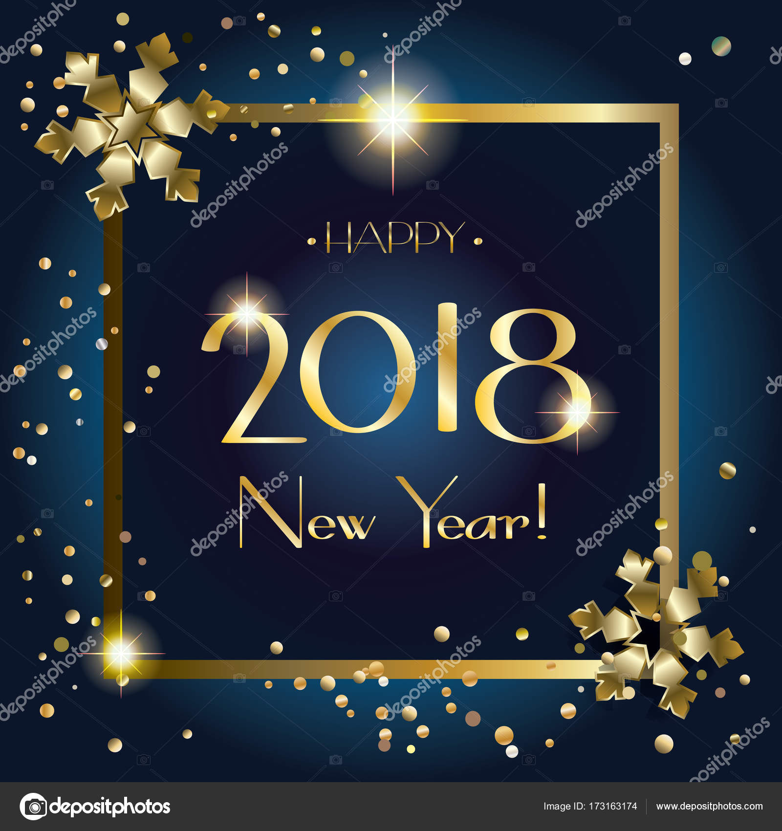 2018 Logo Happy New Year And Christmas Luxury Greeting Card With