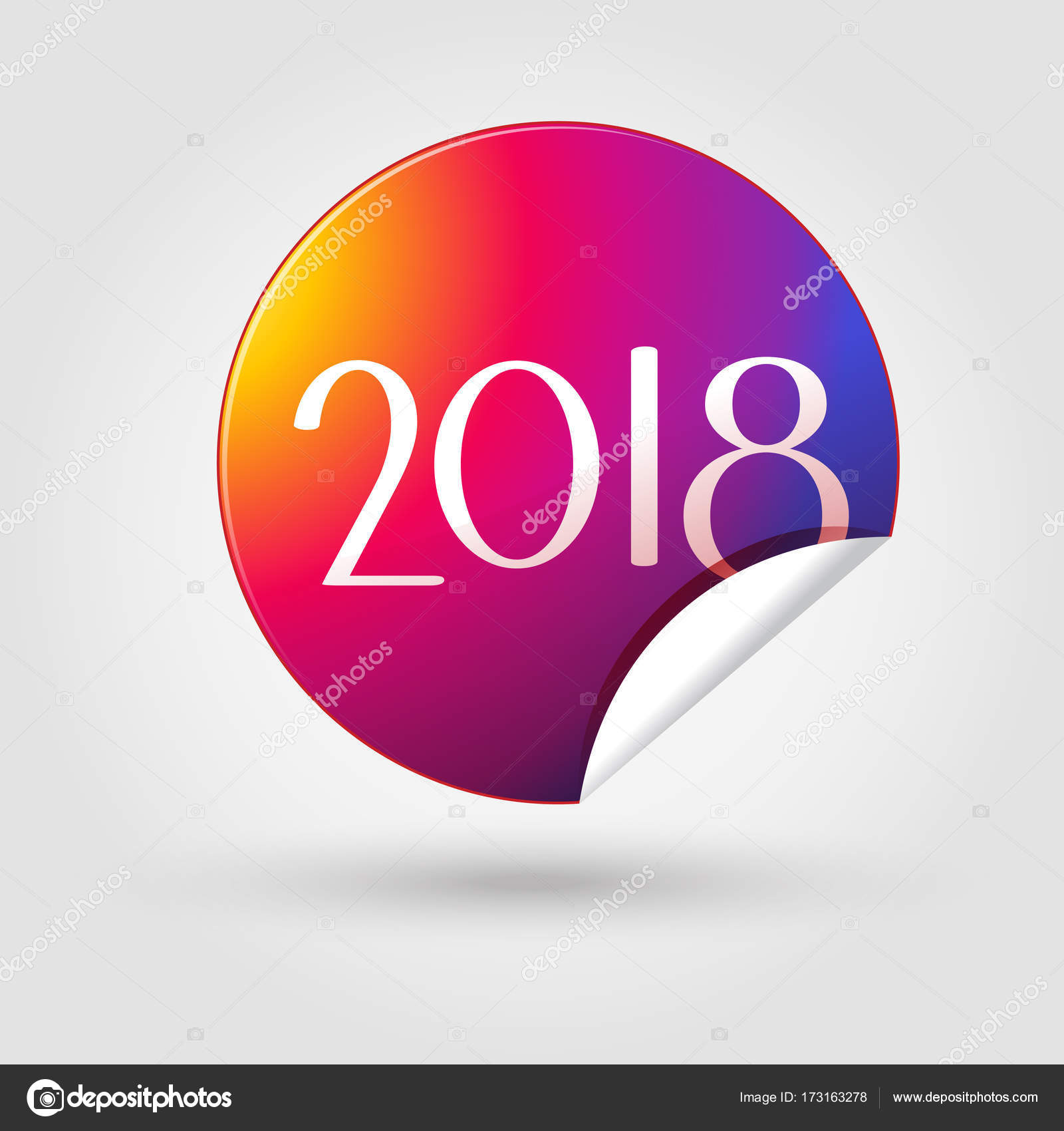 2018 Logo Symbol For Happy New Year And Christmas Holiday Luxury