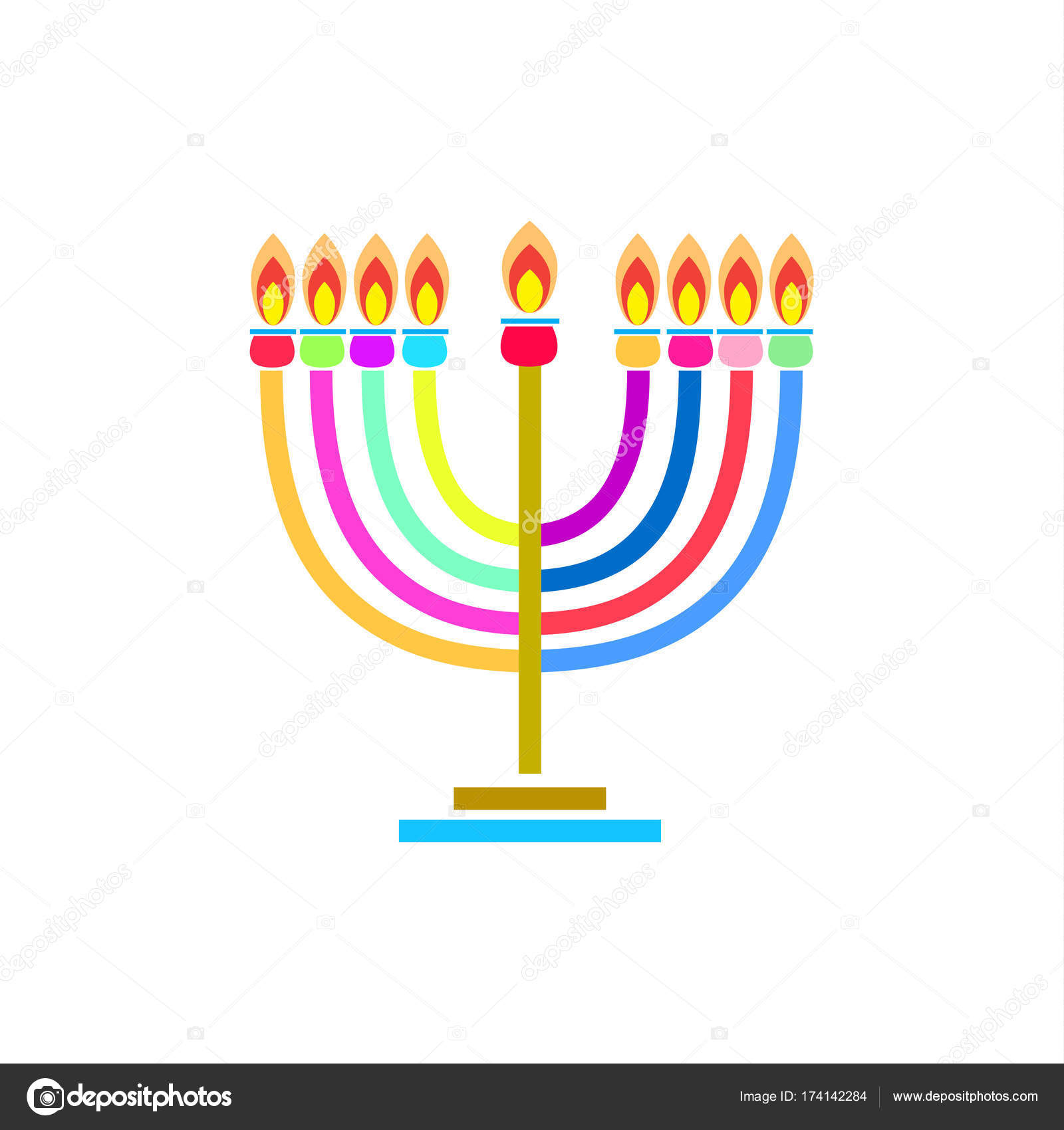 Menorah hanukkah holiday greeting poster with menorah menorah hanukkah holiday greeting poster with menorah menorah hanukkah icon jewish holiday symbol menorah light candelabra with candles silhouette isolated white m4hsunfo