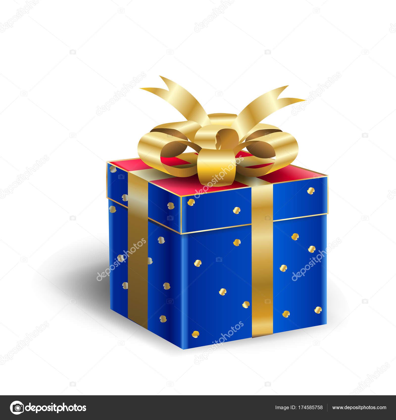 Geschenkbox für Weihnachten und Neujahr Winterurlaub, feiern, schöne ...