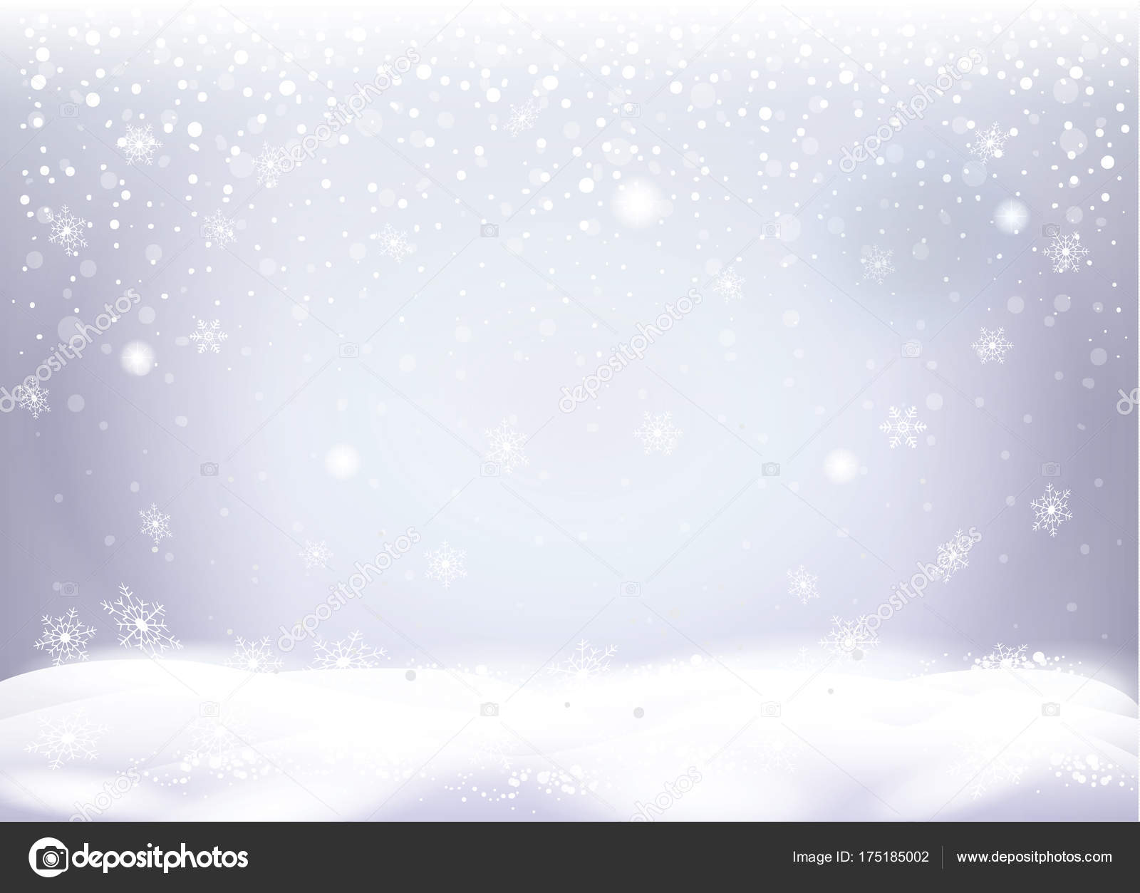 Christmas Snowy Landscape Beautiful Snow Mountain Snowflakes Falling Magic Sparkles Stock Vector C Sofiartmedia Gmail Com 175185002