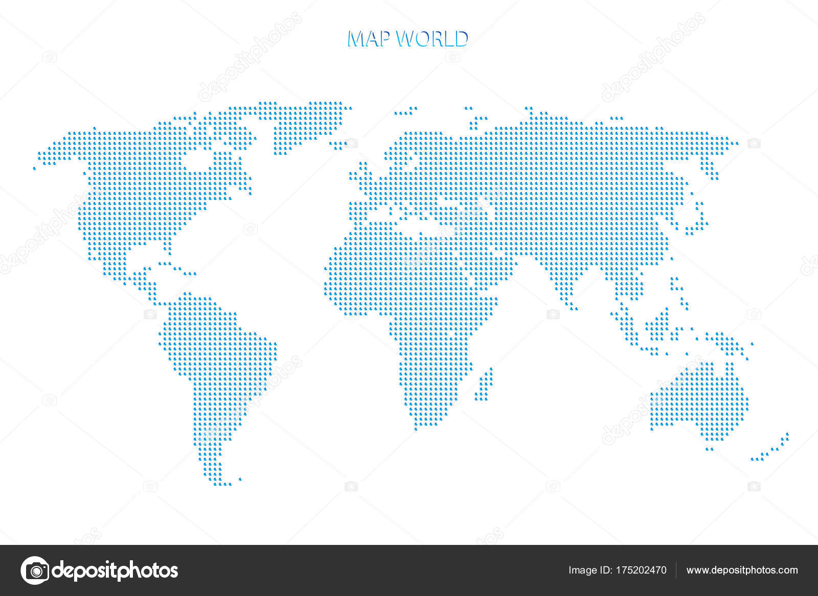 Dotted world map blue world map silhoeutte isolated white world dotted world map blue world map silhoeutte isolated on white world map of blue dots background vector illustration template concept icon social media gumiabroncs Gallery
