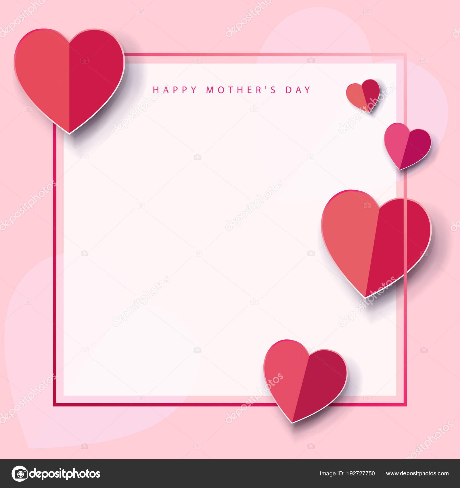 Fondos Para El Dia De La Madre Corazones Tarjeta Felicitación Del