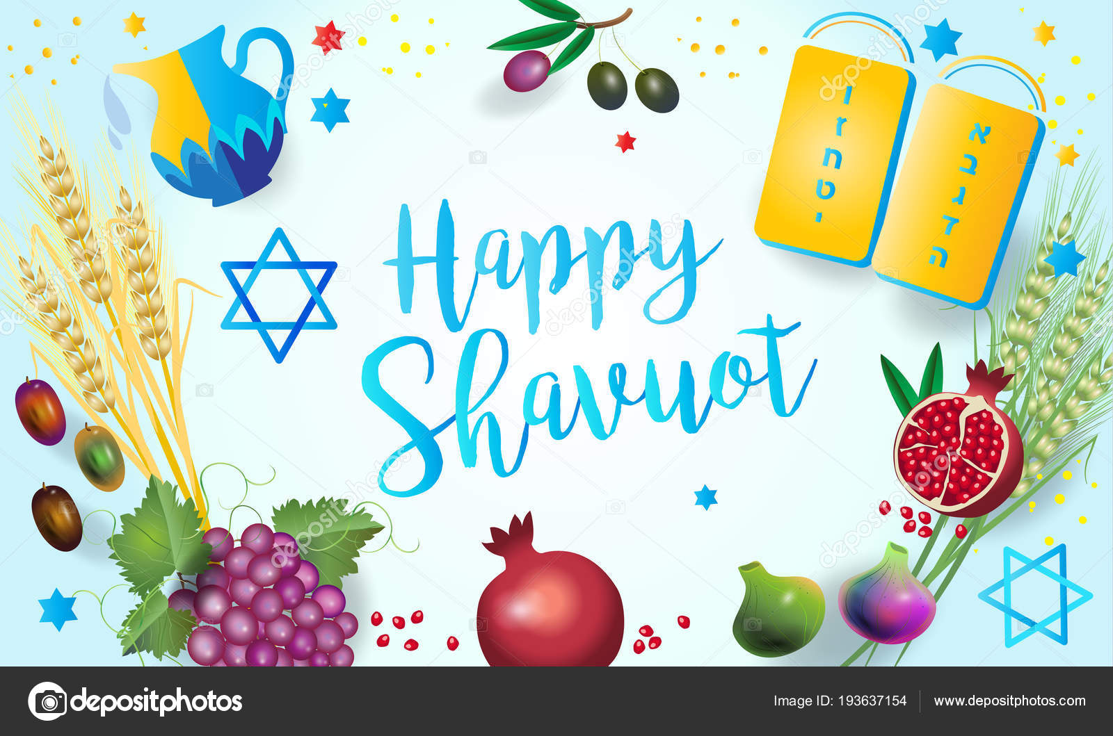 Shavuot holiday hebrew text jewish holiday greeting card torah shavuot holiday hebrew text jewish holiday greeting card torah traditional stock vector m4hsunfo Image collections