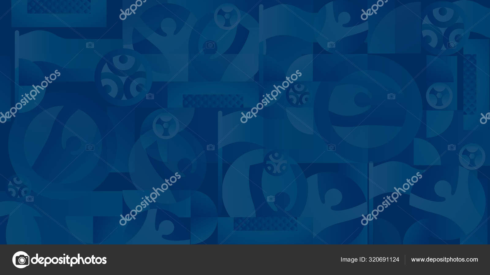 Euro 2020 Soccer European Championship Banner Abstract Blue