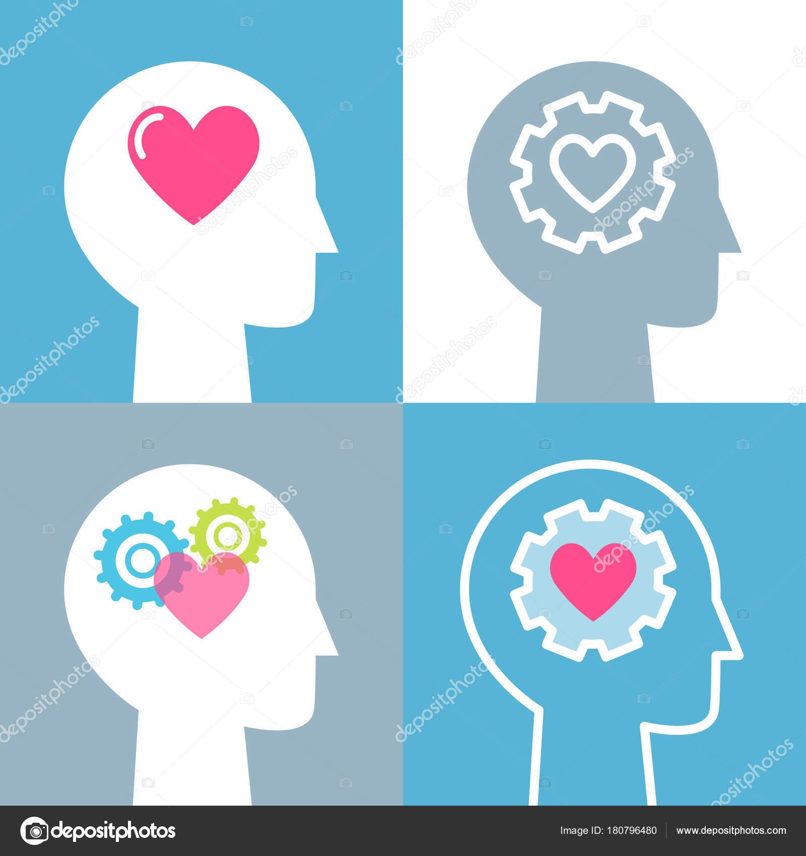 感情的知性感情と精神的健康の概念ベクトル イラスト セット