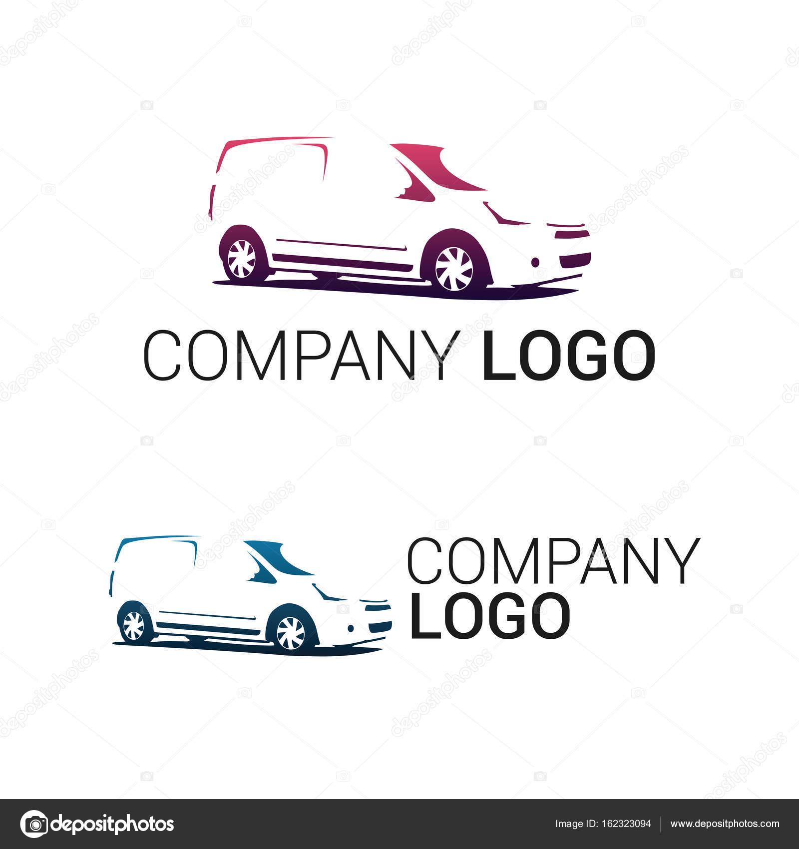 Etiqueta de servicio de reparación o entrega de coche — Vector de ...