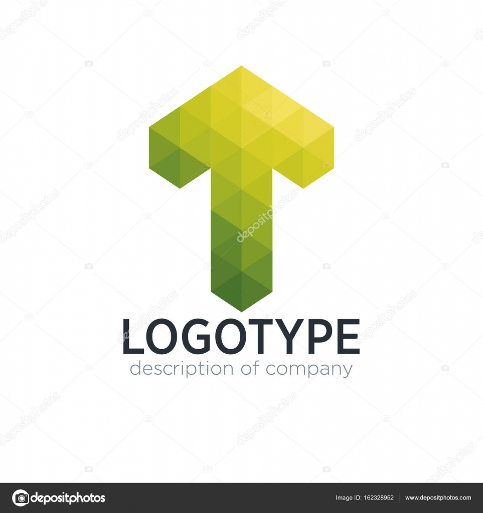 abstract trend polygon letter t logo design template stock vector
