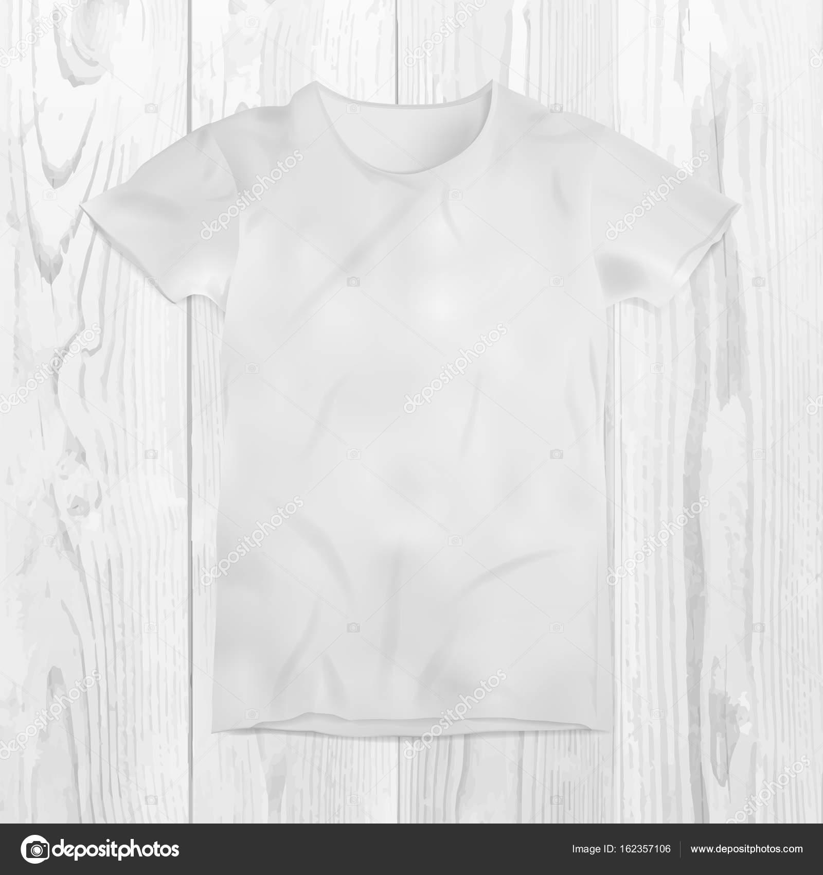 Vektor-Illustration von leeren T-shirt-Vorlage — Stockvektor ...