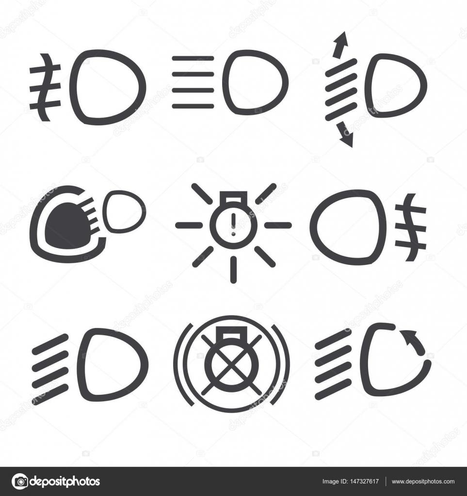 Auto Licht Dashboard Symbole — Stockvektor © parkheta.gmail.com ...