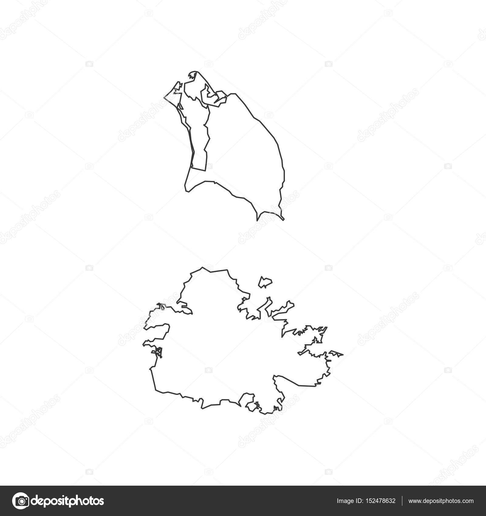 Antigua and Barbuda map — Stock Vector © parkheta.gmail.com #152478632