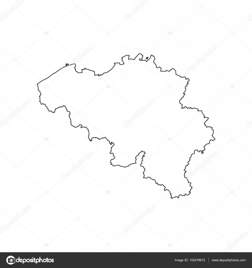 Belgien Karte Umriss.Belgien Karte Silhouette Stockvektor Parkheta Gmail Com 152478672
