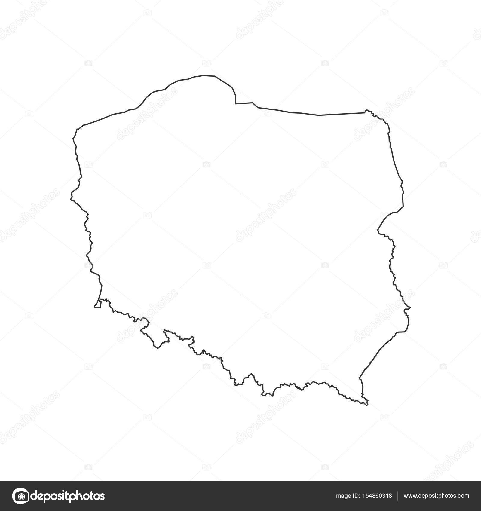 Polen Karte Umriss.Polen Karte Kontur Stockvektor C Parkheta Gmail Com 154860318