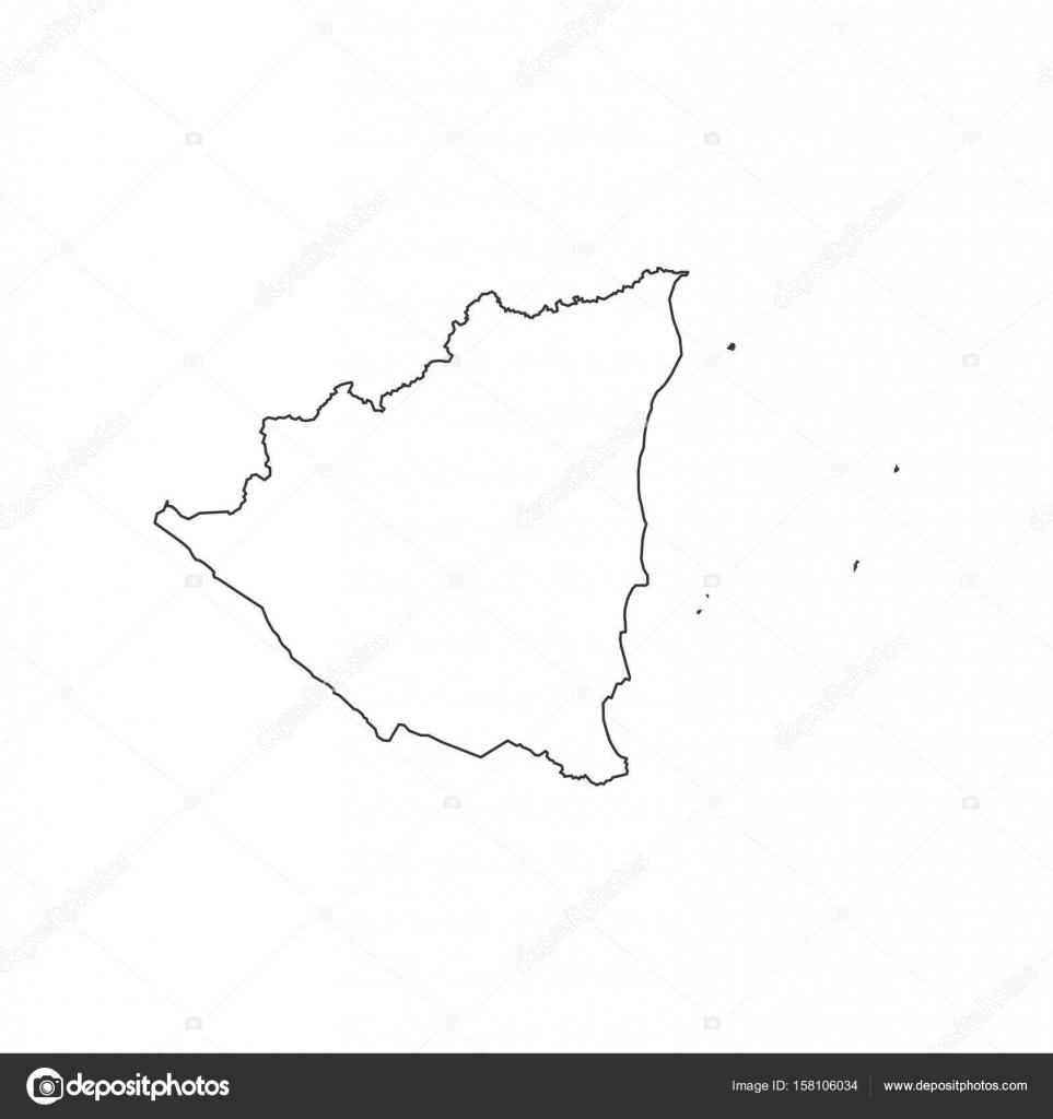 Nicaragua Map Outline Stock Vector Parkhetagmailcom - Nicaragua map download