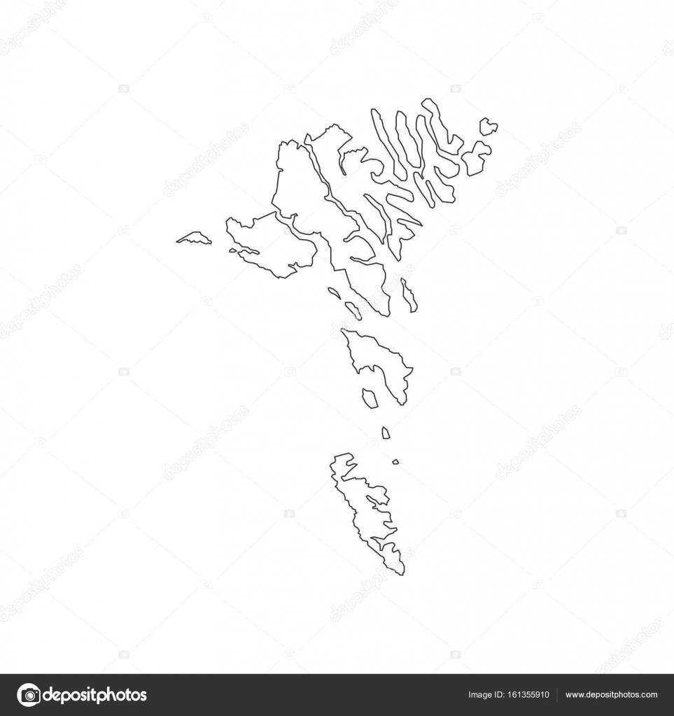 Färöer Inseln Karte.Färöer Inseln Karte Umriss Stockvektor Parkheta Gmail Com 161355910