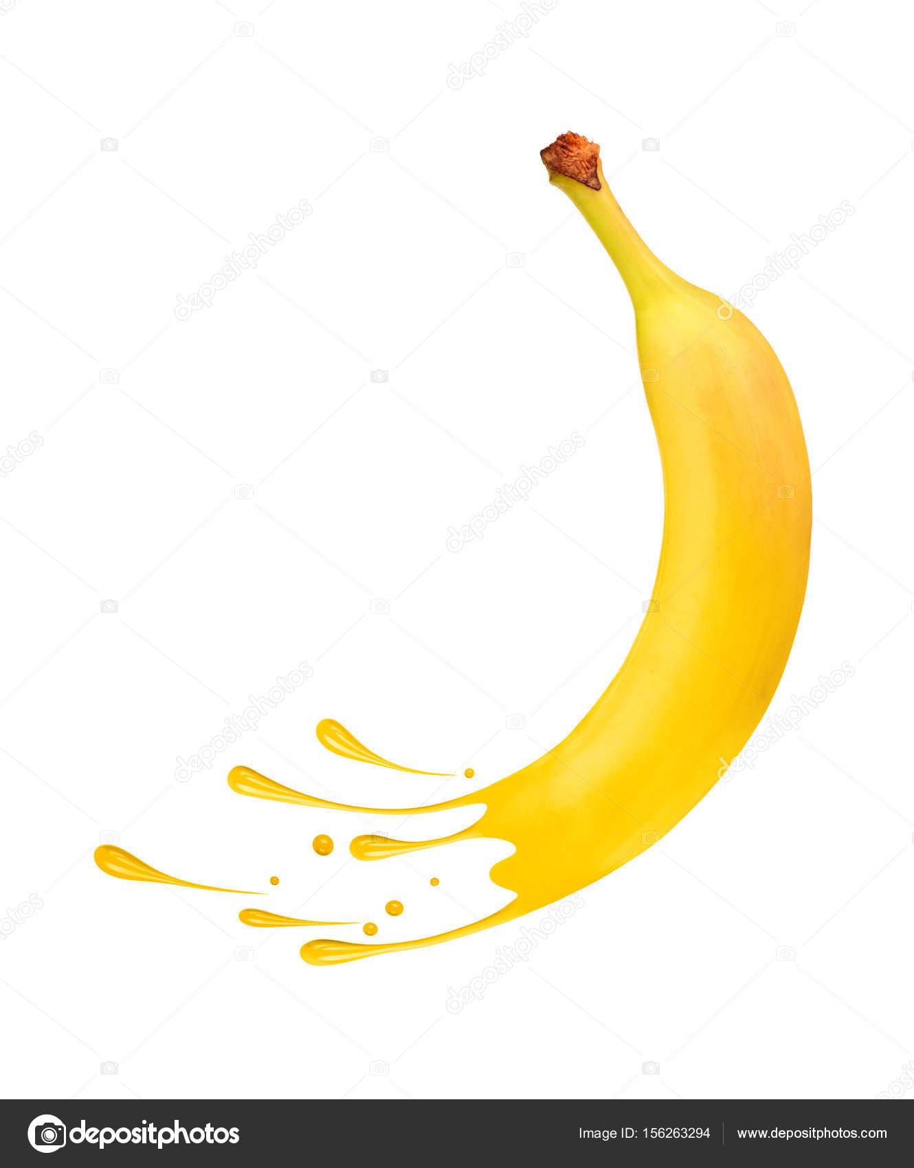 Imágenes Un Guineo Para Pintar Banano Maduro Fresca Con