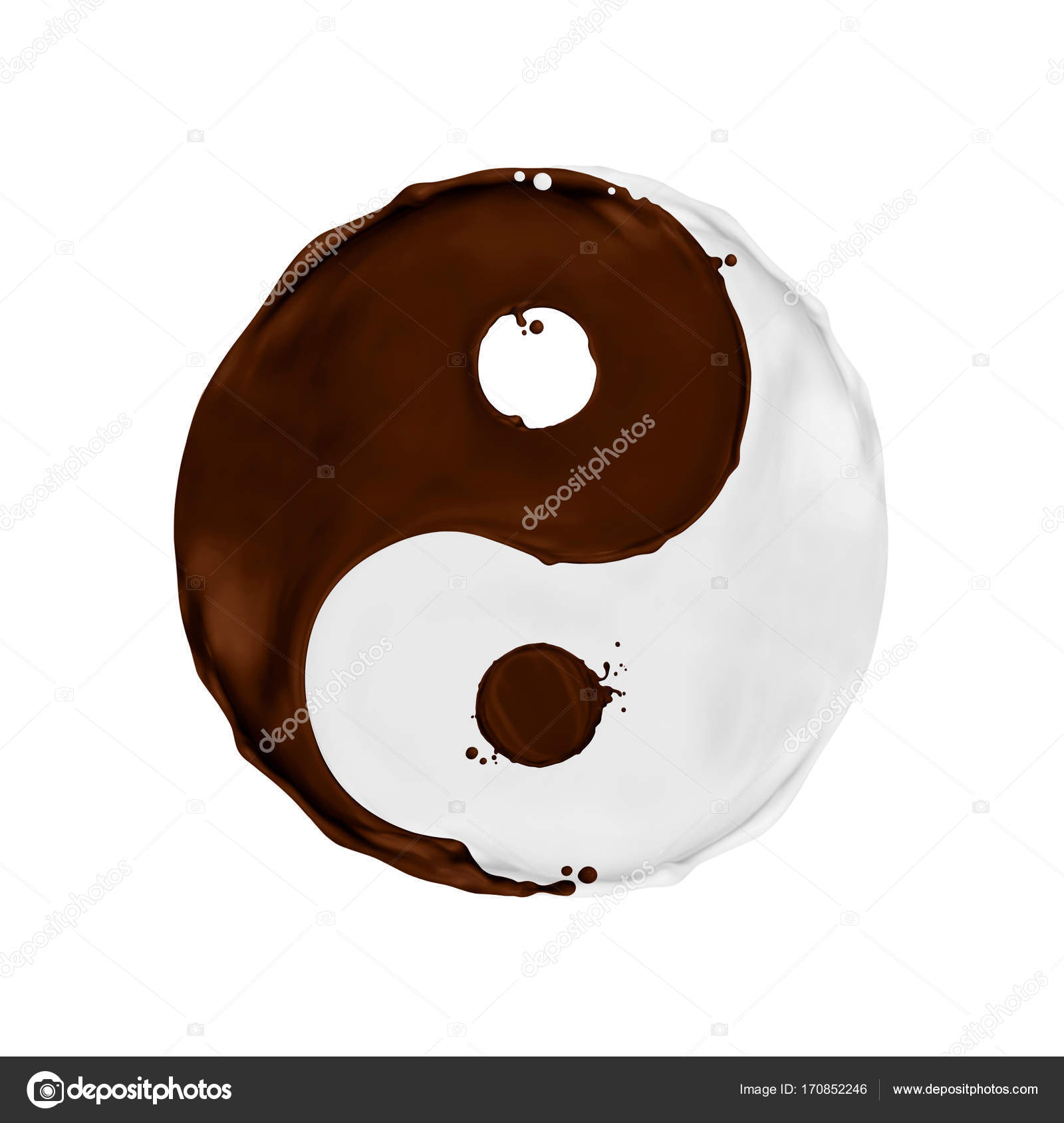 Milk and chocolate splashes in the shape of a yin yang symbol milk and chocolate splashes in the shape of a yin yang symbol stock photo buycottarizona Choice Image
