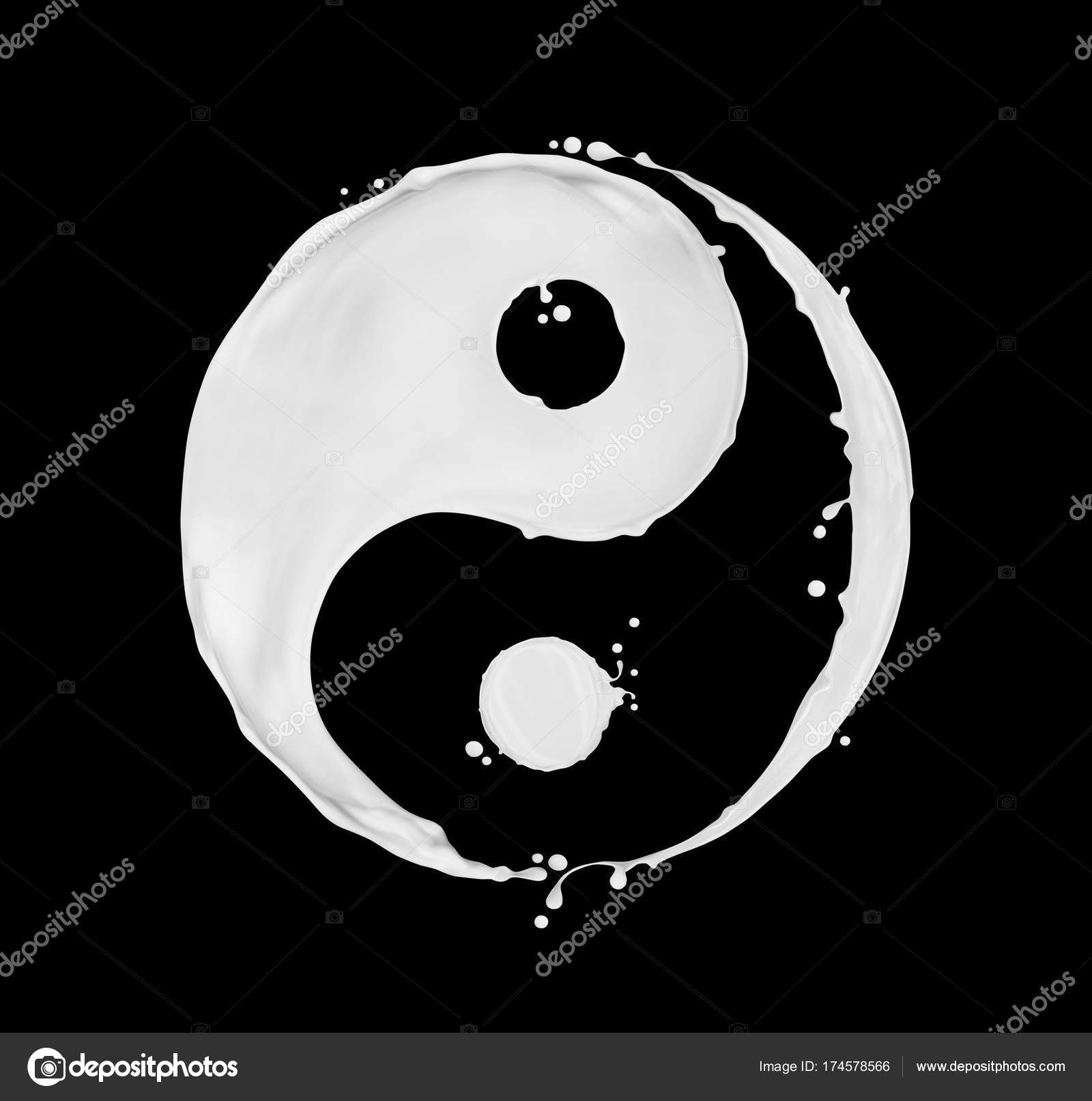 Milk splashes in the shape of a yin yang symbol on black stock milk splashes in the shape of a yin yang symbol on black stock photo buycottarizona Choice Image
