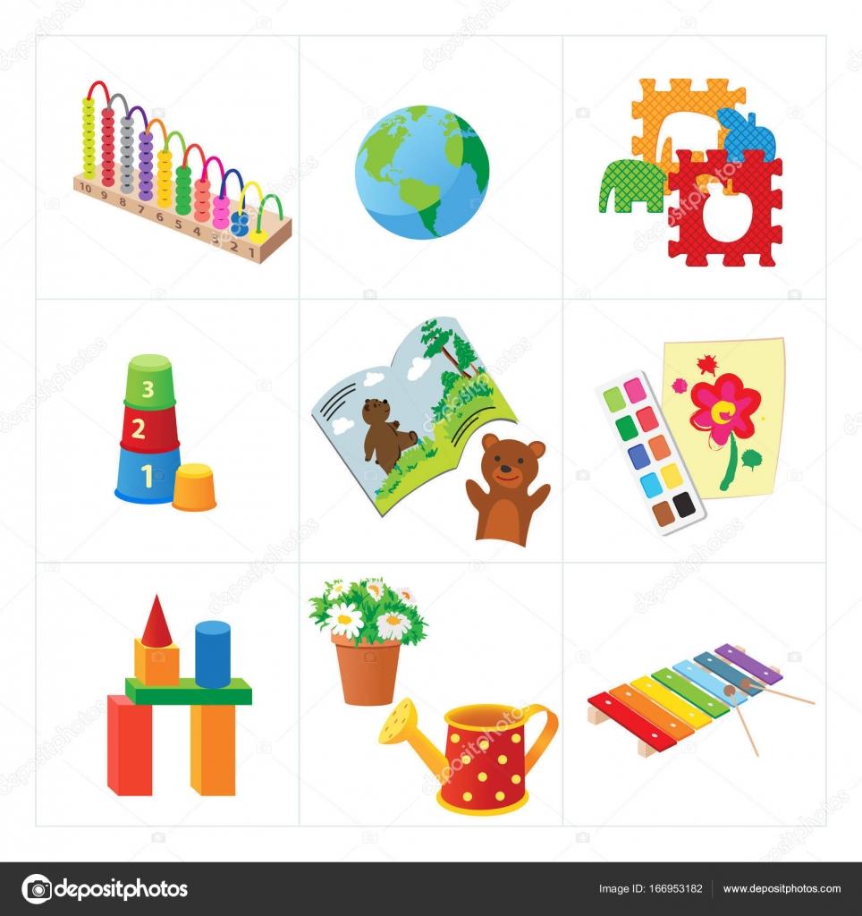 Kindergarten educational vector toys — Stock Vector © o vynokurova