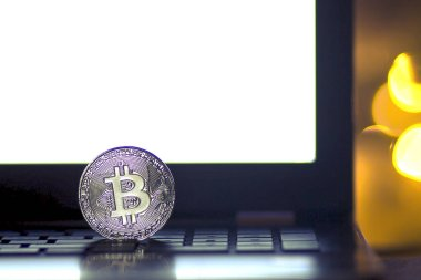 bitcoin symbol , cryptocurrency concept, video