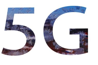 abstract 5G new wireless internet connection background