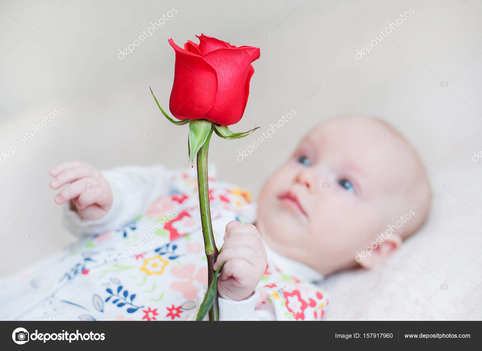 Cute Baby Holding Flowers Cute Baby Girl Holding A Bouquet Of Flowers Rose Stock Photo C Photodiod Gmail Com 157917960
