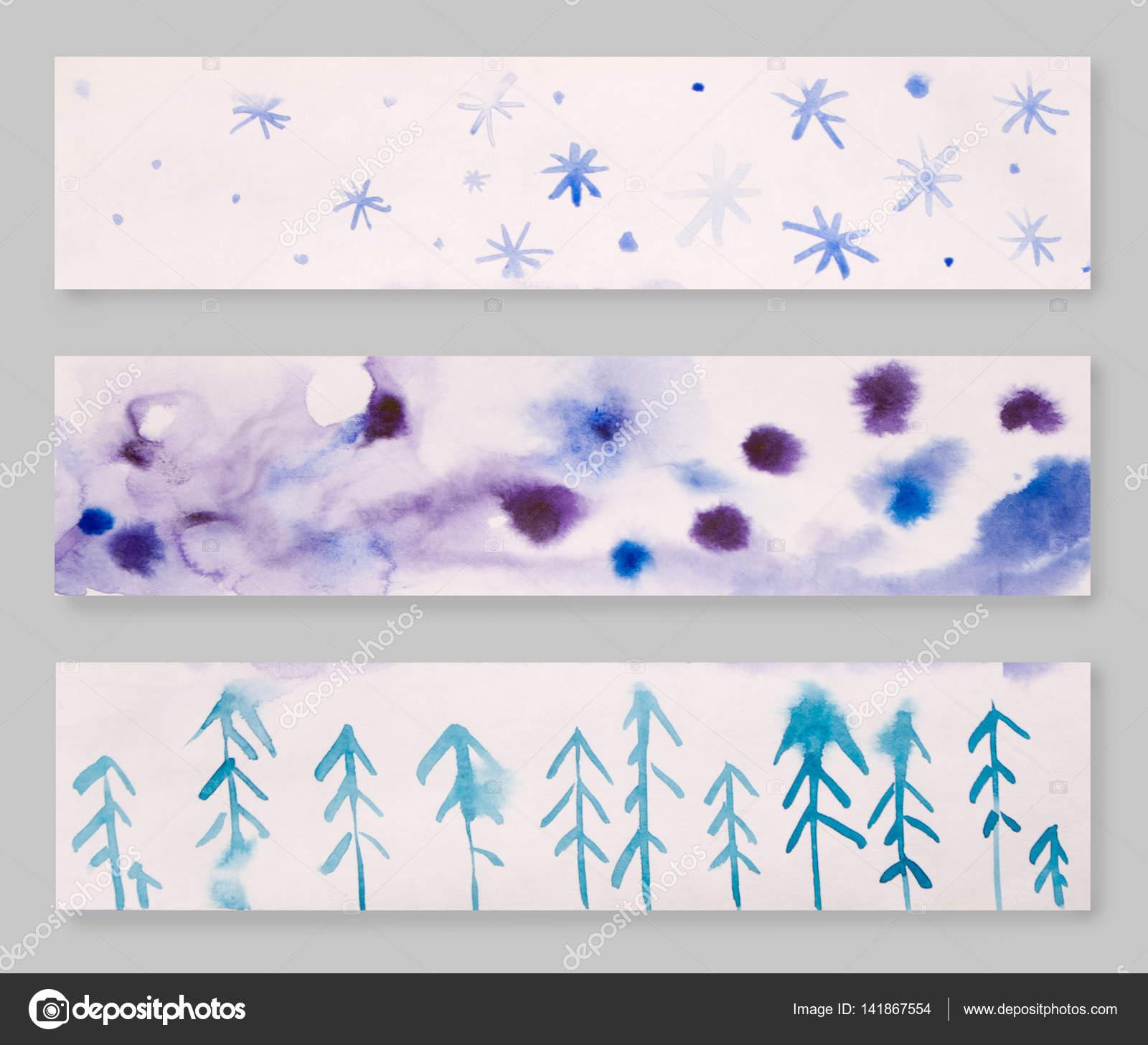 Ensemble De Trois Mains Designs Tete Aquarelle Dessinee Palette De